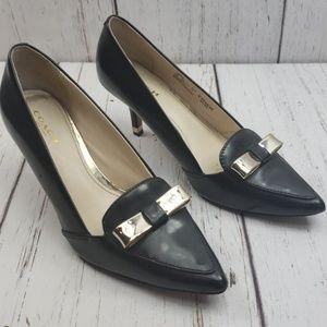 Coach Black Leather Heels Zorra 6